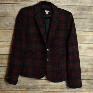 J. Crew Plaid Wool Blazer NWT Size 12